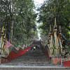 Mae Sai - the Wat Phra That Wai Dao - lots of stairs to walk up