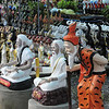 """On the road from Ayutthaya to Sukhothai --- recent industry of """"temple gifts"""" -- a bit 'kitsch' - but fun!"""