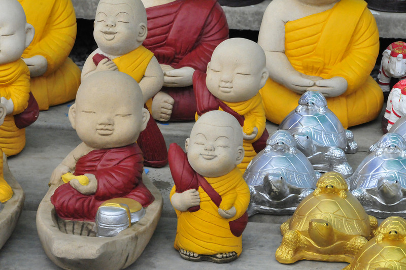 "On the road from Ayutthaya to Sukhothai --- recent industry of ""temple gifts"" -- a bit 'kitsch' - but fun!"