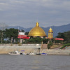 Cruise on the Mekong River at the Golden Triangle (where Thailand, Myanmar (Burma) and Laos meet - facing the Laos side