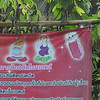 Visit to the hill tribes near Chiang Mai - Akha tribe village - 'family planning message""