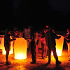 Sky lanterns, launched with tour group