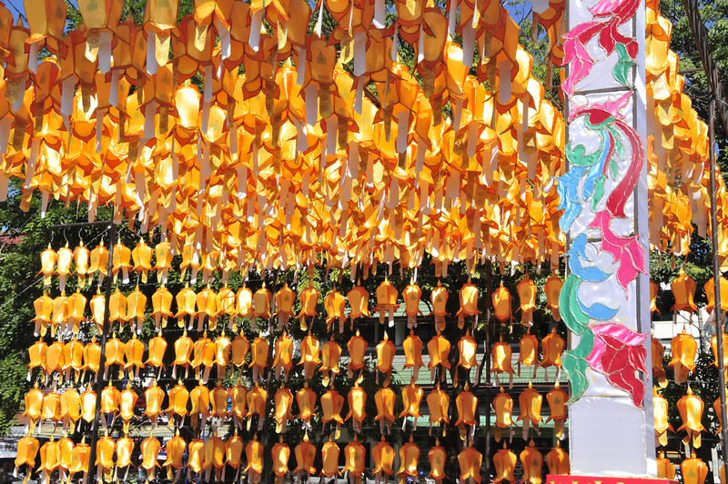 Chiang Mai - upcoming festival decorations