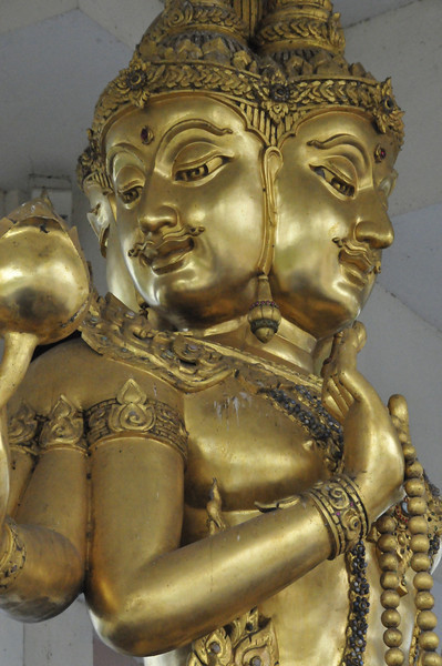On the road from Ayutthaya to Sukhothai --- Brahma statue - evidence of strong Indian influence in Thailand
