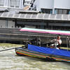 Ferry trip along the Chao Phraya River in Bangkok - Long boat (water taxis) with 'big engine'!