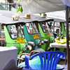 Khao San Road - Bangkok's backpackers mecca -- Tuk-tuks (bike taxi) waiting for a fare
