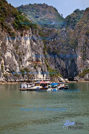 Villager's homes  on Ha Long Bay