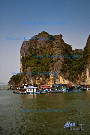 Fishing sheds on Ha Ling Bay