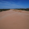 Crossing the Finke River - It has water every few years - Ghan Train (Alice Springs to Adelaide) - Outback, NT Australia
