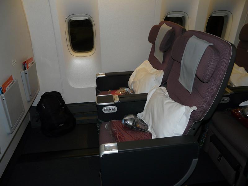 001 Qantas Premium Economy seat LAX-Sydney