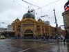 Flinders Street Station - raining