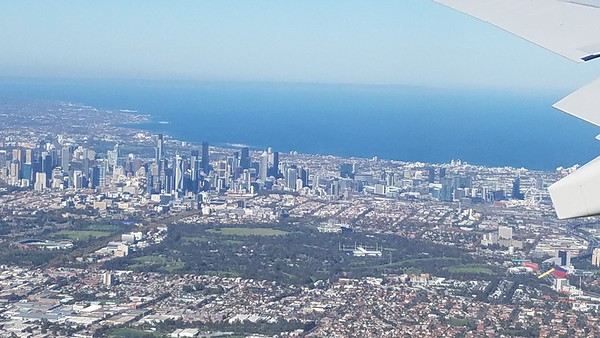 coming into Melbourne