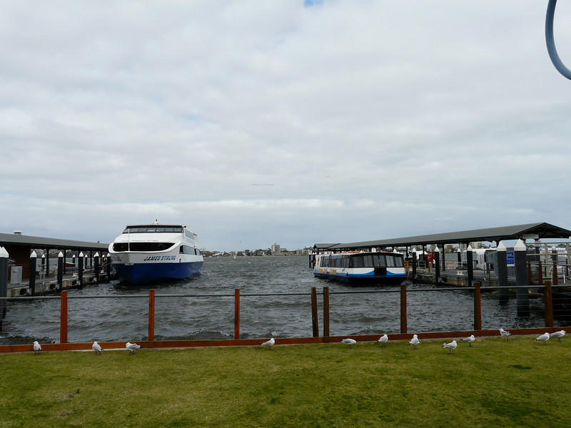 due to high winds and rough water I paid extra to take the big boat on the left