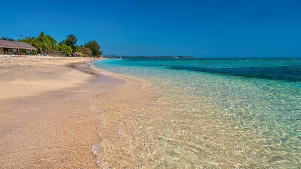 Gili Air, one of the three Gili Islands near Bali, in Lombok Province.