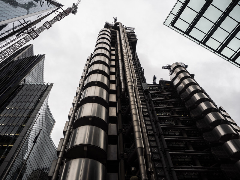 The wonderful Lloyds building, always worth a photograph.