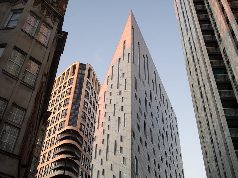Distinctly less hipsterish, an impressive new tower block.