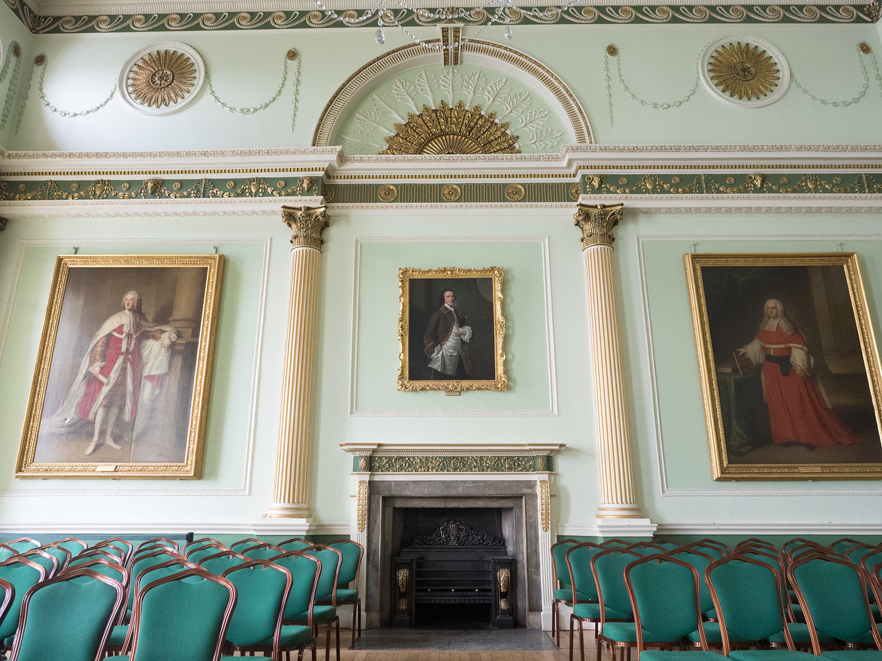 The banqueting hall in the Guildhall.