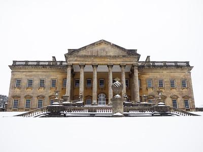Prior Park in the snow.