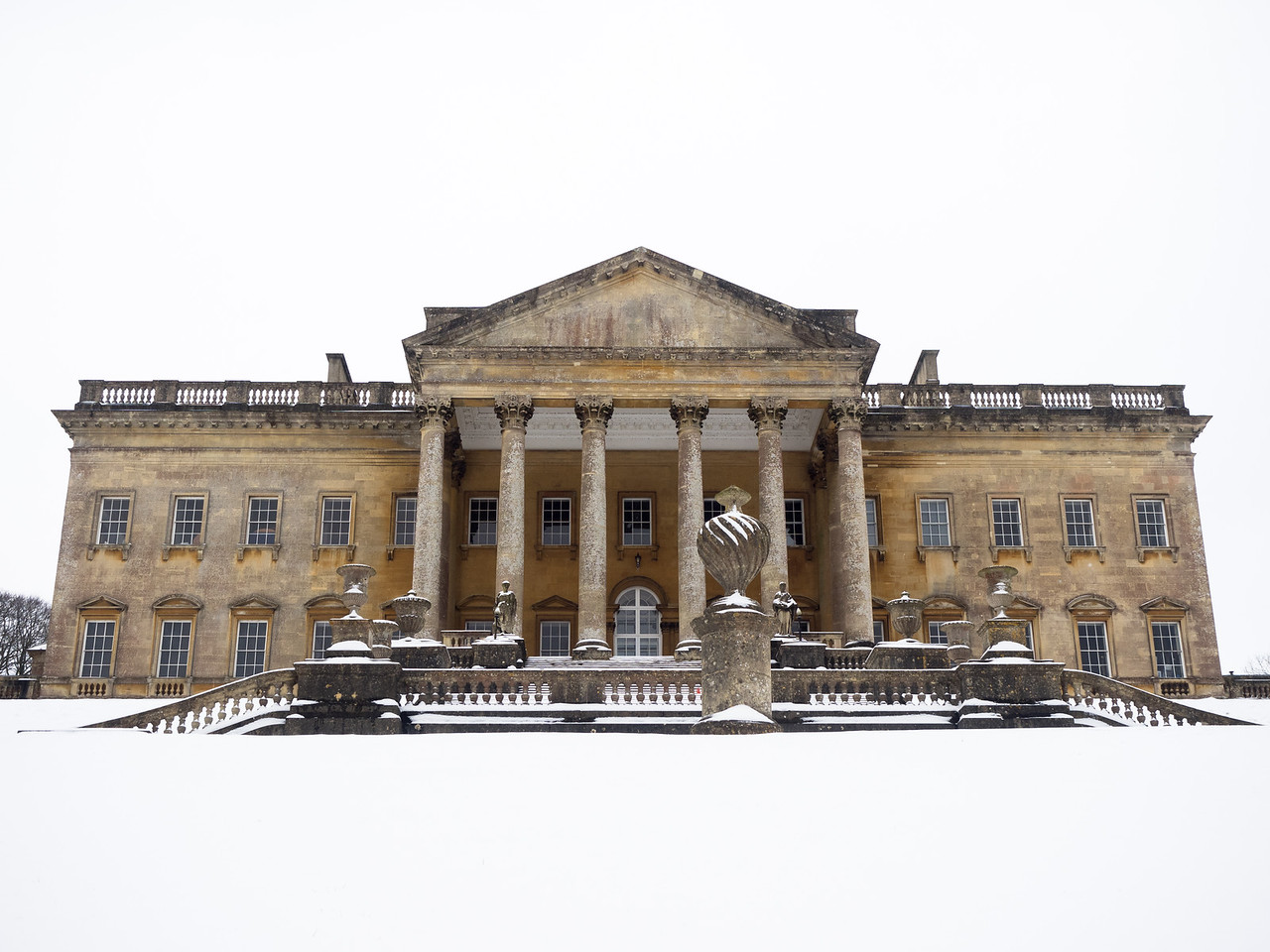 Prior Park in the snow.