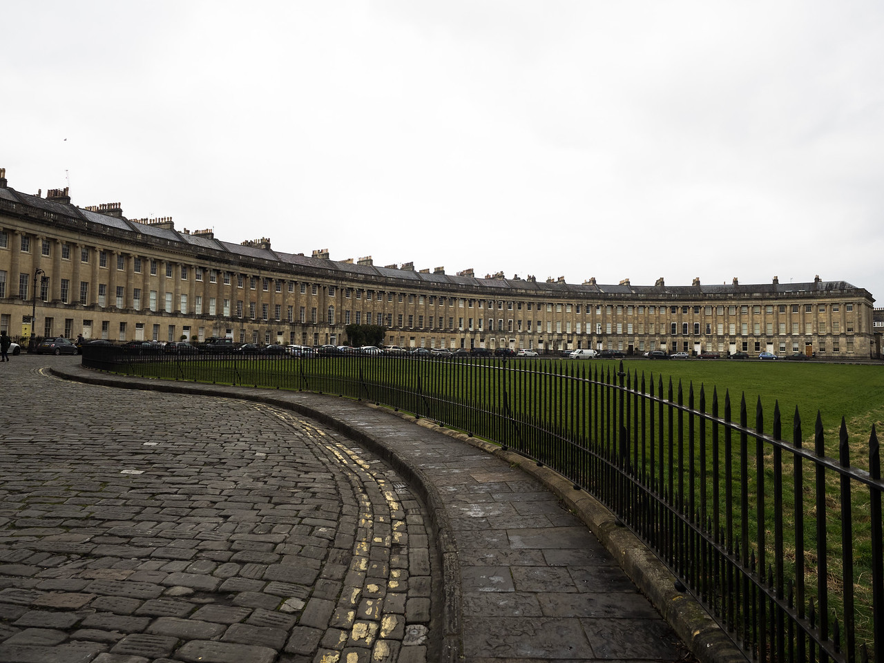 The wonderful curves of the Royal Crescent.