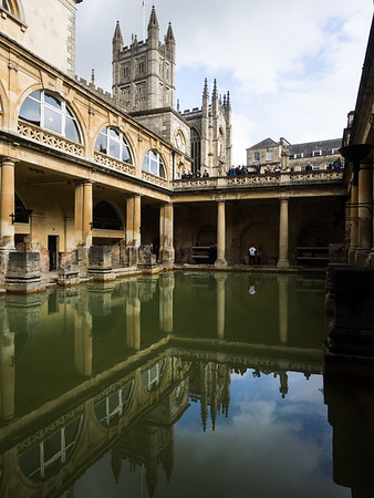 The Roman Baths. Up until the 1970s people were still allowed into the water.