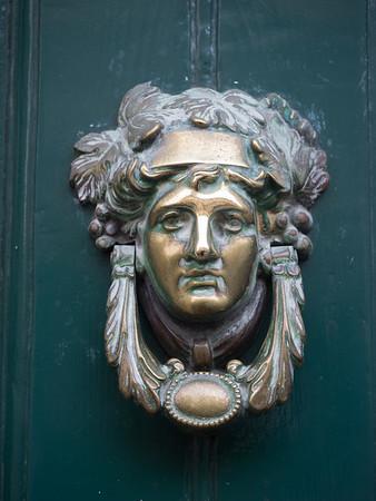 A classy door-knocker.