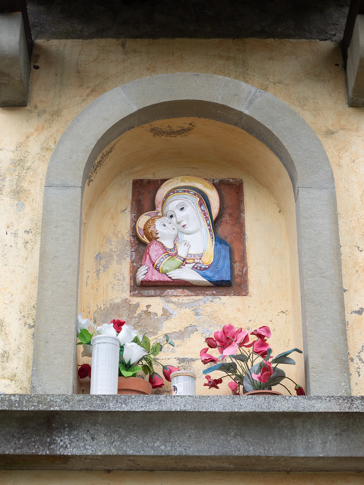A colourful shrine in Fiesole, a little village 20 minutes outside Florence.