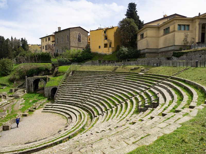 A really impressive Roman amphitheater in Fiesole, with almost no one else there.
