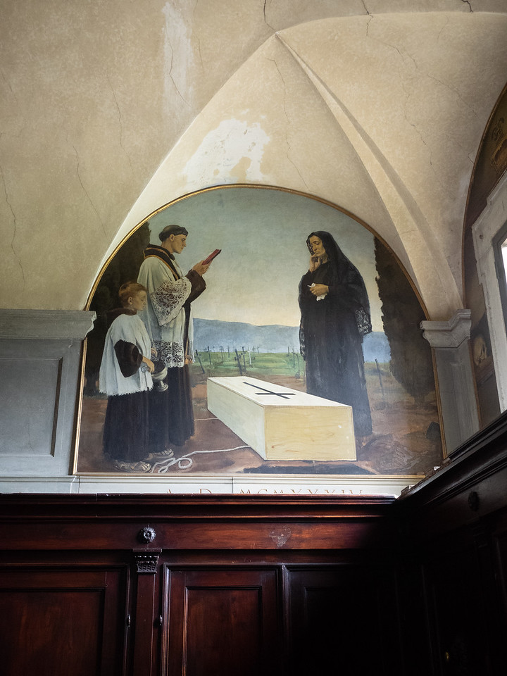 A cheerful little scene in the Franciscan monastery in Fiesole.
