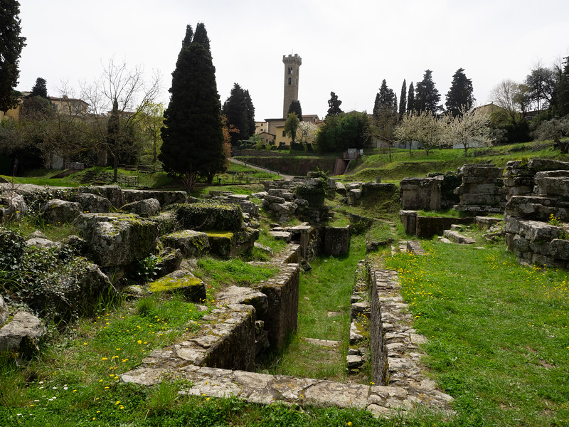 These were the remains of an Etruscan and later Roman temple.