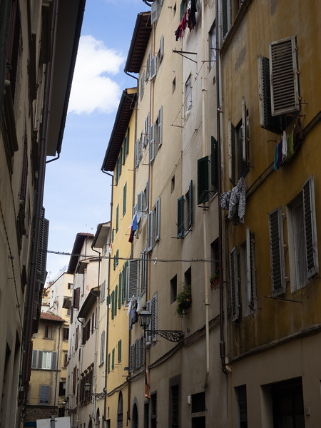 Typical narrow Florentine street.