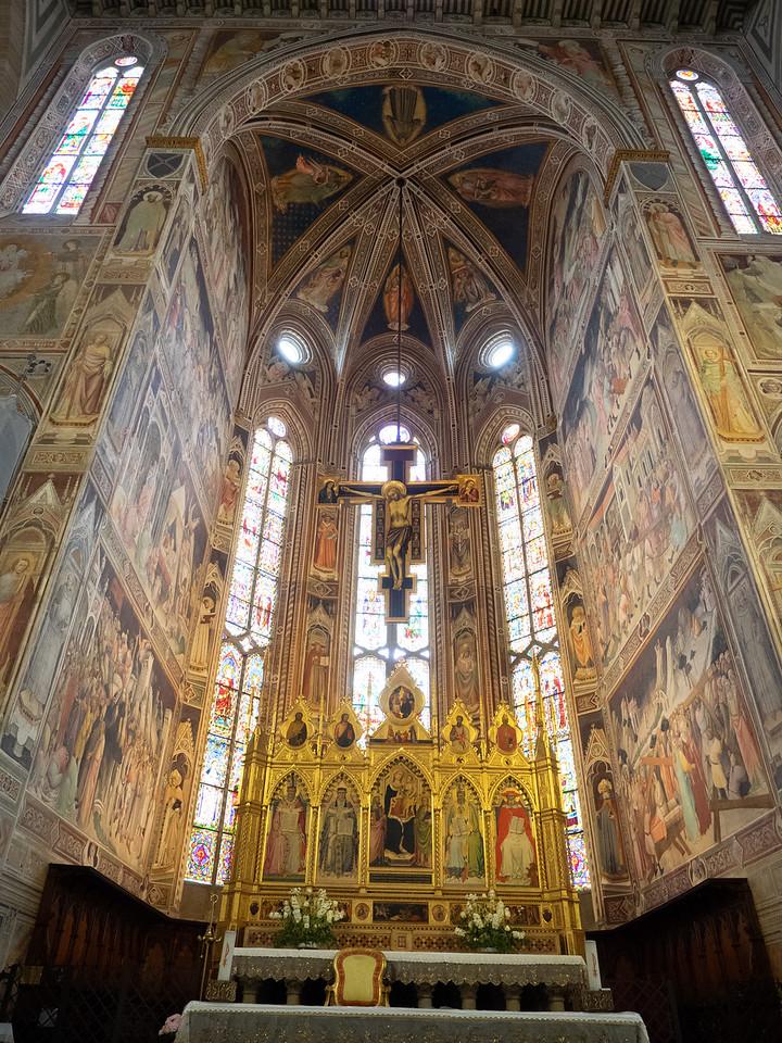 Wonderful frescoes in Santa Croce.
