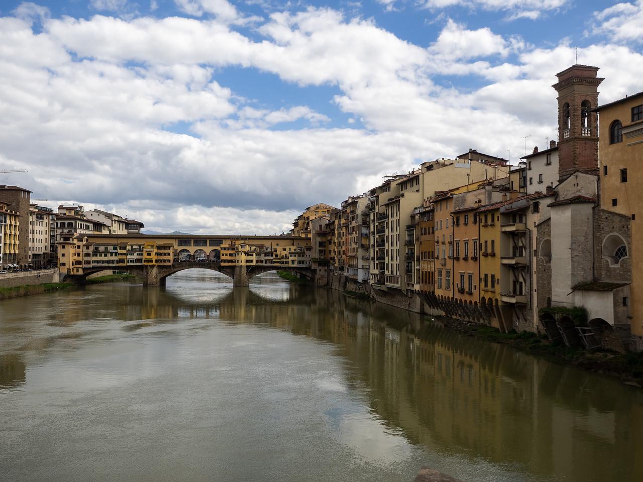Ponte Vecchio in the distance.