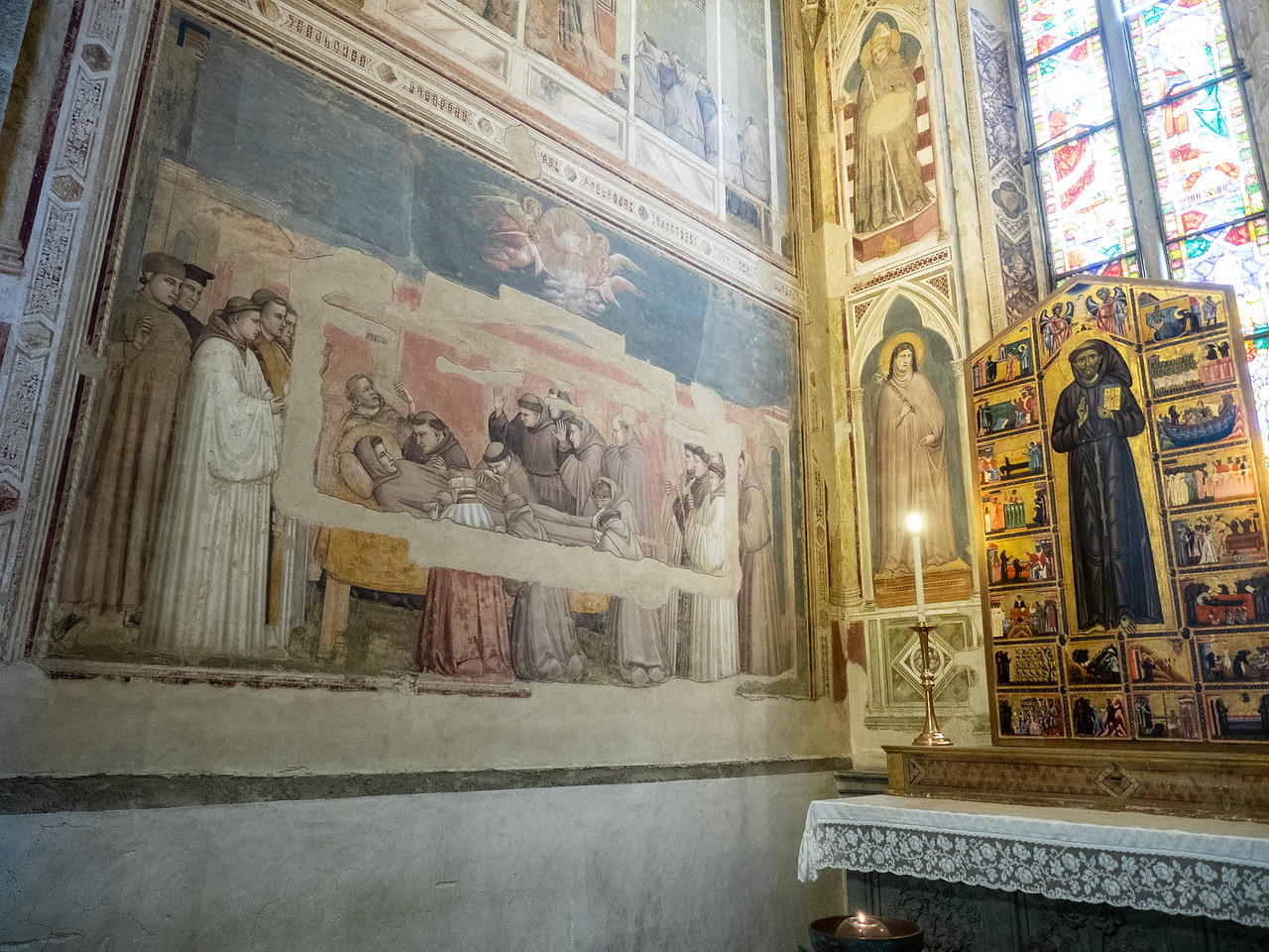 A fresco by Giotto depicting the death of St. Francis.