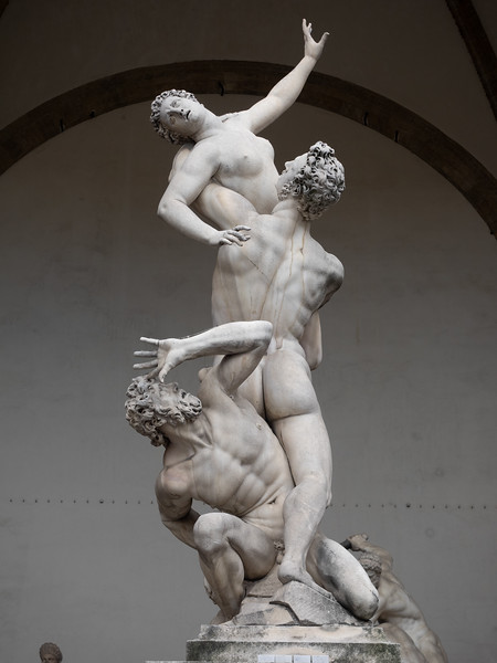 The Rape of the Sabine, in Piazza Del Signoria.