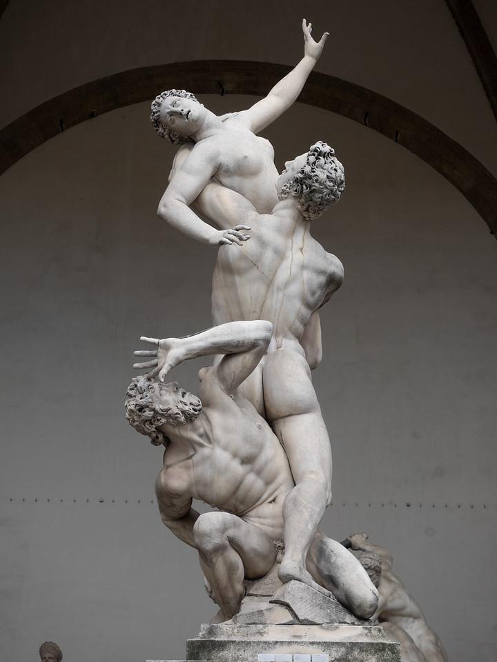 The Rape of the Sabine, in Piazza Del Signoria.
