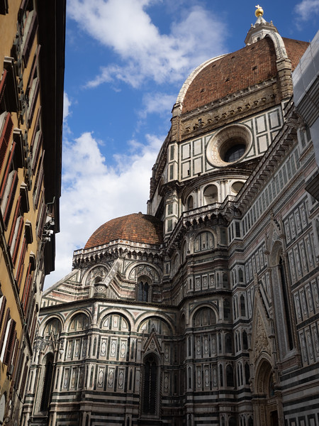 A final view of the Duomo, as I sat outside having a nice glass of red wine.  What a beautiful city!