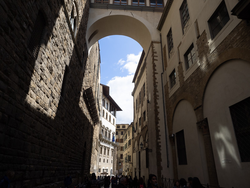 Near the Uffizi gallery.