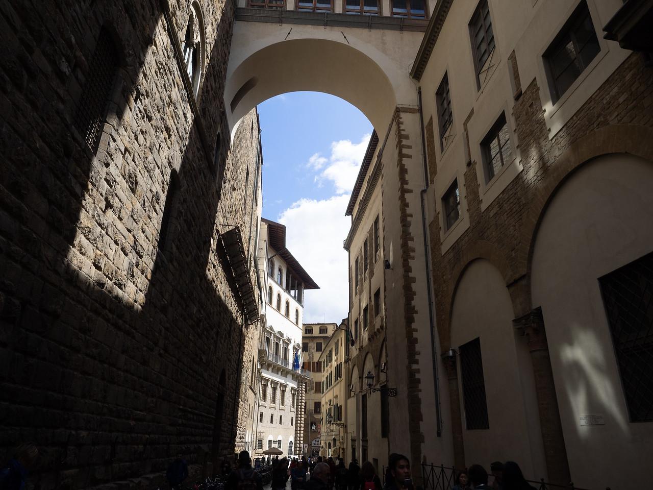 Near the Uffizi gallery.
