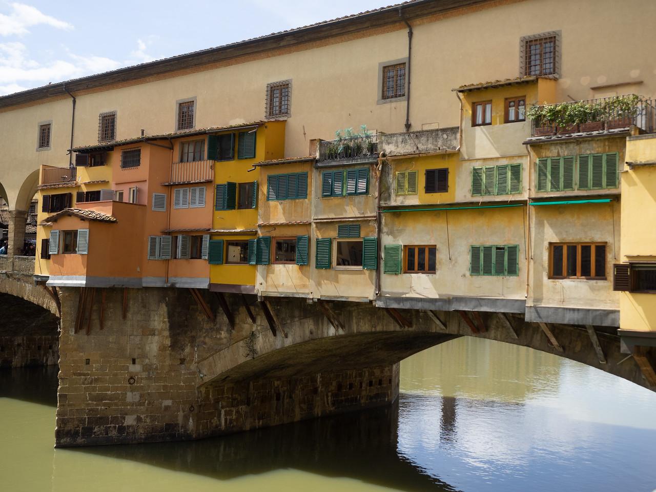 The famous Ponte Vecchio bridge.