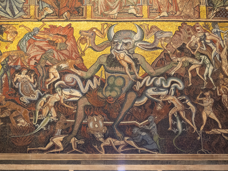Looks like Judgement Day is going to be fun, based on this mosaic in the Baptistery!