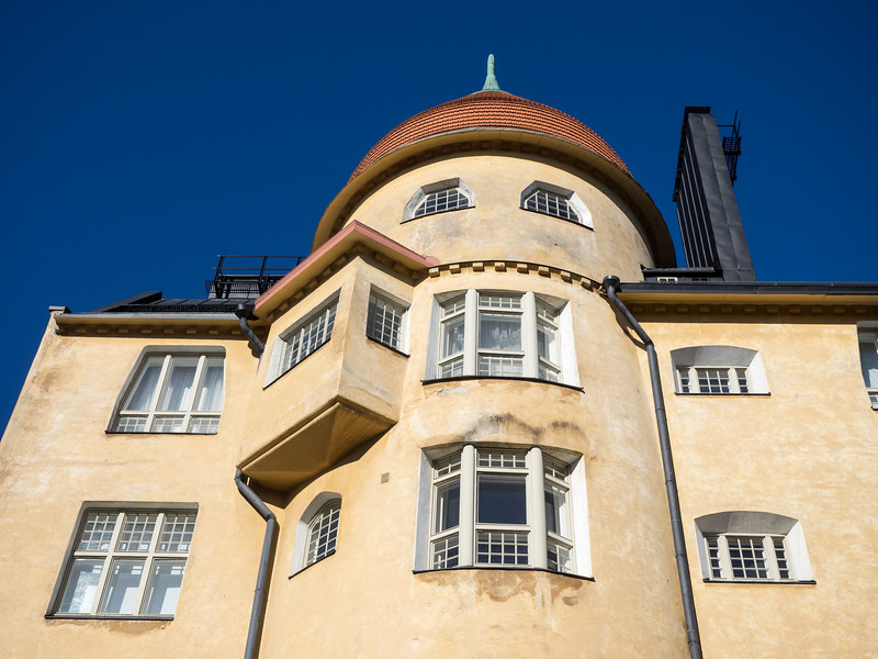 Helsinki has a well-preserved Art Nouveau quarter in the Katajanokka district, with beautiful houses like this.