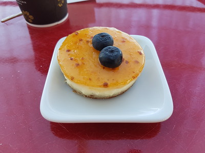 A lingonberry cheesecake on the ferry. The Finns like their lingonberries. And rightly so - they're very nice.