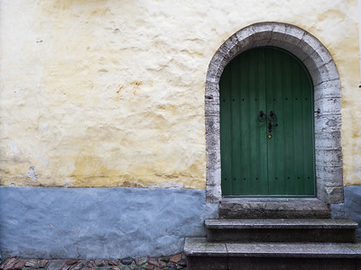 Another colourful door and wall back in the centre of Tallinn  By the end of my second and final day it had brightened up a little. I think I'll be returning to Tallinn and exploring the backstreets again sometime soon.  All in all, a great trip to two wonderful cities!