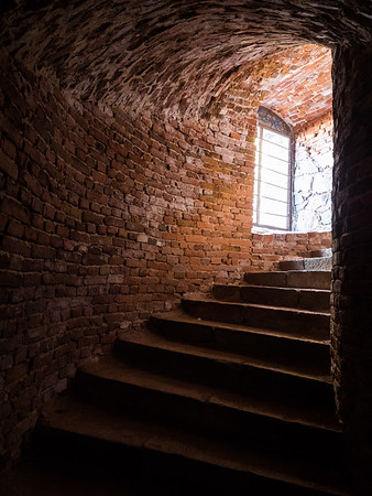 A staircase inside one of the fortifications. I had to use my torch to get to here as part of the tunnel was in complete darkness.