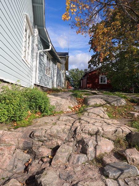 This stone outcrop in the town is called the Devil's Steps.