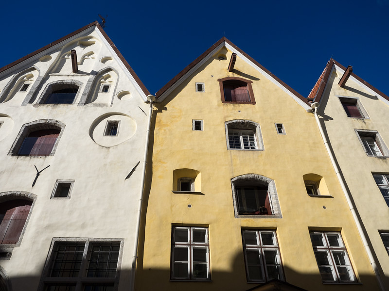 The Three Sisters, three colourful medieval houses.