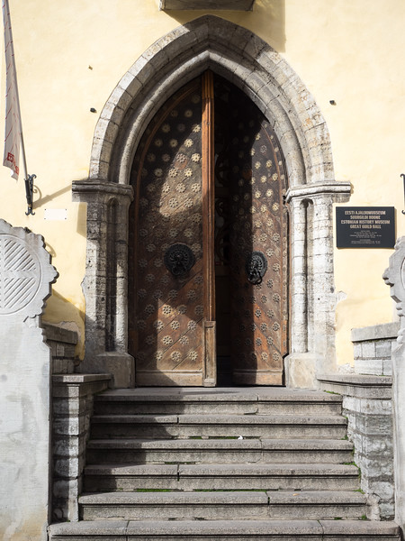 The impressive entrance to one of the Medieval Guild halls in the centre of Tallinn. It now has a really interesting museum about the history of Estonia (basically, a lot of occupation and subjugation).