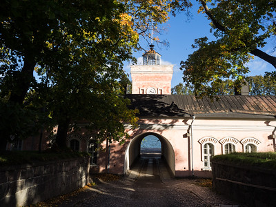 One day I explored the 18th Century sea fortress of Suomenlinna, which is constructed over several islands just off Helsinki, and is one of the biggest sea forts in the world. The islands are covered with massive fortifications; many were damaged by shelling during the Crimean War. This is the main entrance from the quay where  the mainland ferry lands.