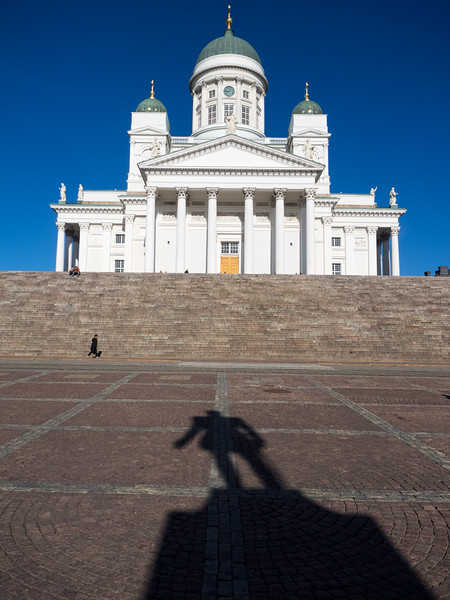 The beautiful cathedral on Senate Square, in the centre of Helsinki, shining white in the afternoon sunshine. I had to wait for the hordes of other tourists (largely Chinese) to get out of the way.